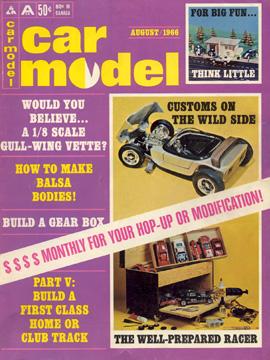 Car Model August 1966 Vintage Slot Car Racing Magazine