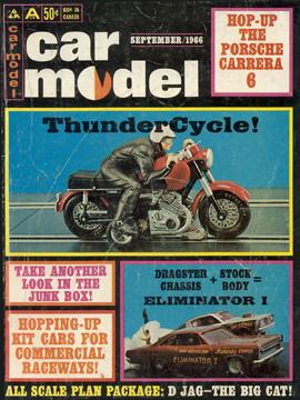Car Model September 1966 Vintage Slot Car Racing Magazine