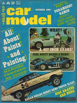 Car Model October 1966 Vintage Slot Car Racing Magazine